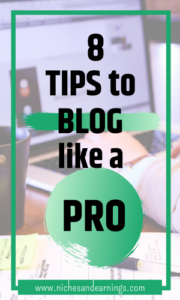 Niches And Earnings 8 Tips to Blog Like a Pro