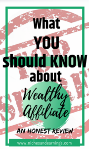 Niches And Earnings What you Should Know About Wealthy Affiliate