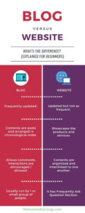 BLOG vs WEBSITE - What's The Difference? [Explained for Beginners]