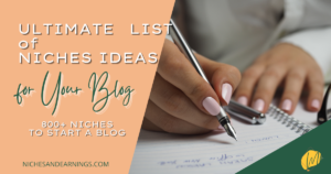 BLOG NICHE LIST IDEAS
