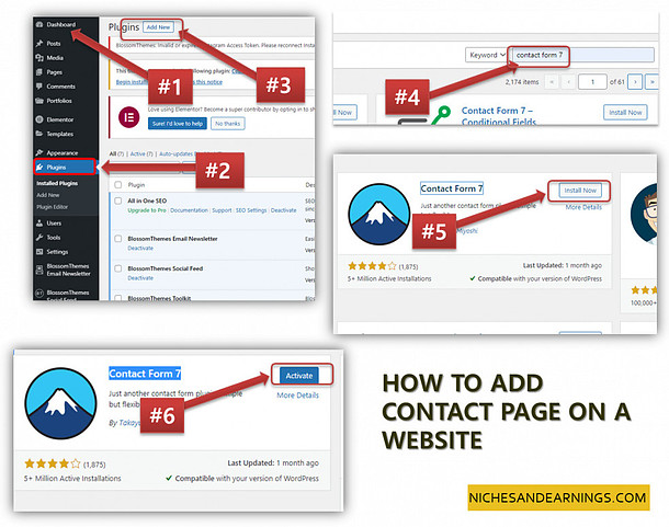 HOW TO ADD CONTACT PAGE ON A WEBSITE